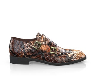 Men's Leather Snakeskin Print James Shoes