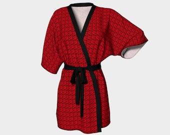 Roses are Red Kimono Robe