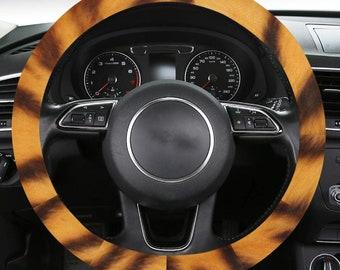 Steering Wheel Covers Tiger Print