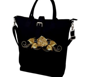 Buckle Top Tote Gold Rose