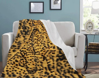 Micro Fleece Ultra Soft Cheetah Blankets