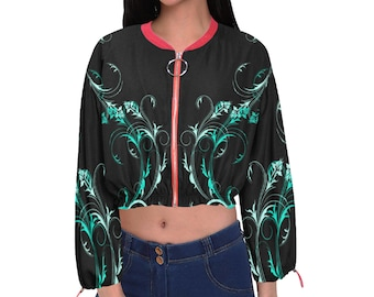 Women's Cropped Chiffon Jacket T Swirl