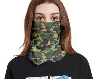 Bandana Face Cover Camouflage Ear slot