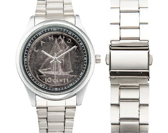 Men's Stainless Steel Watch dime