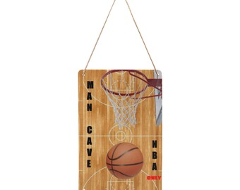 Hanging Tin Sign Basketball