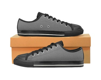 Men's Classic Canvas Shoes Grey with black sole