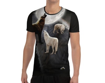 Men's Athletic T-shirt Wilderness Wolves