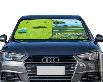 Car Sun Shade Golf Theme