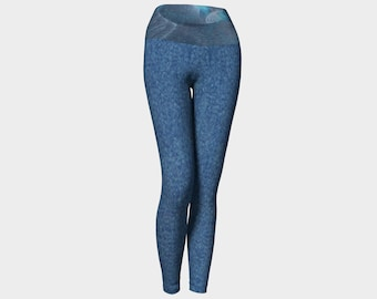 Denim Angel Blue Yoga Leggings