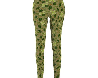 WomenS Cut  Sew Casual Leggings Camouflage