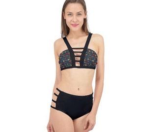Women's Cage Up Bikini Set