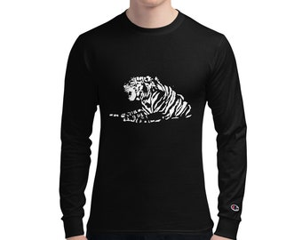Men's Champion Long Sleeve Shirt Tiger