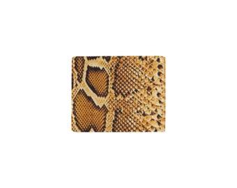 Men's Bifold Leather Wallet Snakeskin