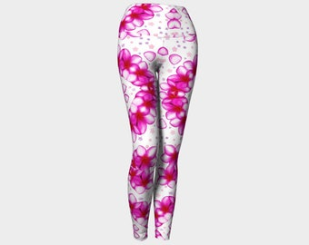 Pink Petals Yoga Leggings