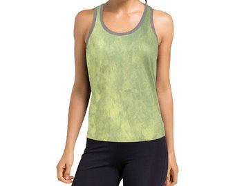 Women's Racerback Yellow Wash