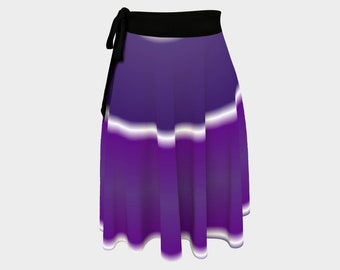 Deep Purple  Wrap Skirt