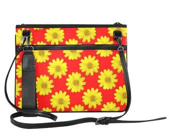 Ladies Slim Clutch Bag Flowers