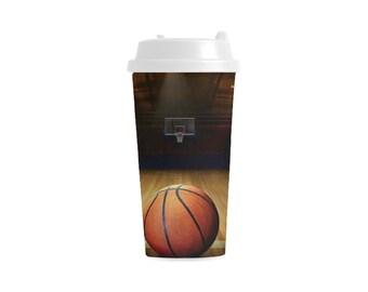 Double Wall Plastic Mug basketball design