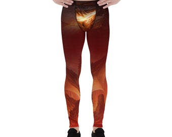 Men's Sports Leggings Fire Breath