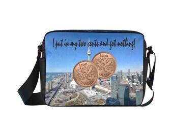 Nylon Crossbody Bag two cents