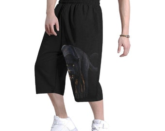 Men's Baggy Hip Hop Shorts Black Panther