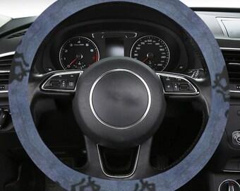 Steering Wheel Cover Denim Horse Print