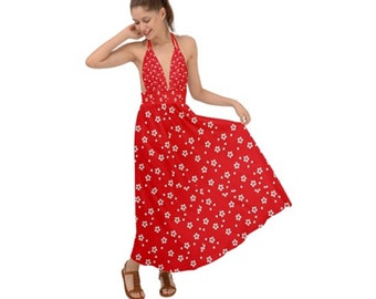Women's Backless Maxi Dress