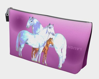Horse Family Make Up Bag