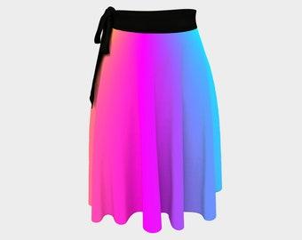 Rainbow Colors Wrap Skirt