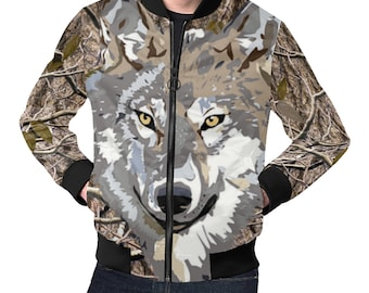 Men's Bomber Jacket Timber Wolf