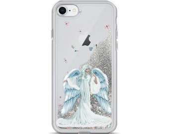 Liquid Glitter Phone Case My Angel