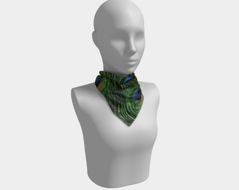 Peacock Feather Square Scarf