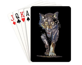 Playing Cards Wolf