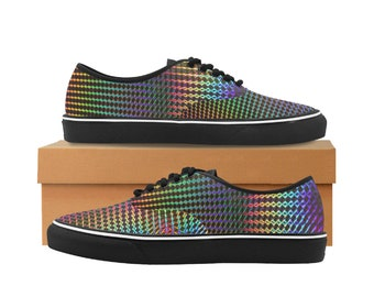 Women's Canvas Low Top Sneakers Holographic