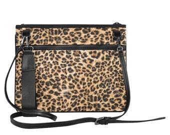 Ladies Slim Clutch Bag Leopard Print