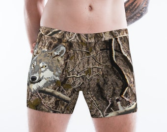 Timber Wolf Boxer Briefs For Men