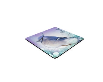 Blue Jay Square Coasters
