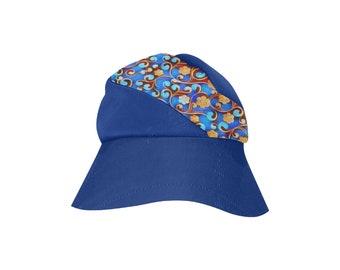 Women's bucket Hat Navy floral