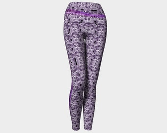 Purple Floral Yoga Leggings