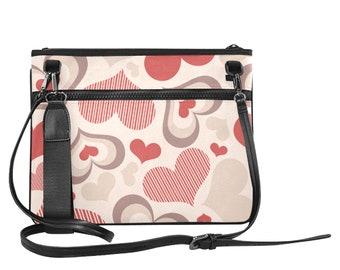 Ladies Slim Clutch Bag Heartified