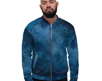 Unisex Bomber Jacket Blue Wash