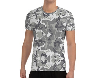 Men's Athletic T-shirt Grey Camouflage