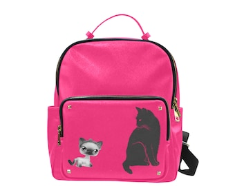 Small Pink Campus Backpack Kitty