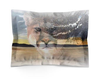 Microfiber Pillow Sham Cougar Sunset