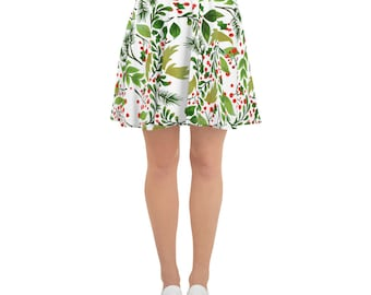 Skater Skirt Green Leaf