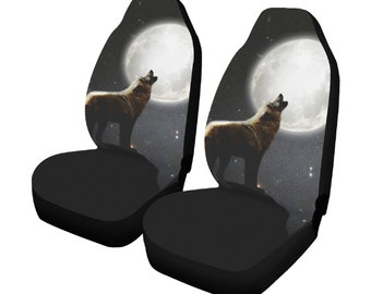 Howling Wolf Car Seat Covers x 2