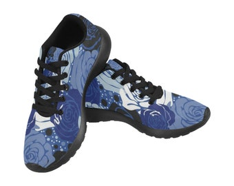 Women's Running Shoes Blue Floral