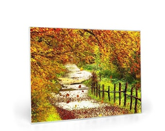 Glass Cutting Boards Autumn Trail