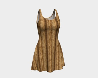 Leopard Pattern Skater Dress