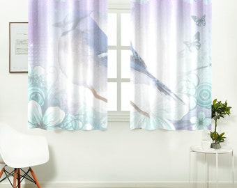 Kitchen Window Curtain Blue Jay Design